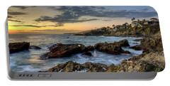 Laguna Beach Coastline Portable Battery Charger by Eddie Yerkish