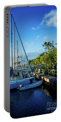Portable Battery Charger featuring the photograph Lahaina Marina Blue Twilight by Sharon Mau