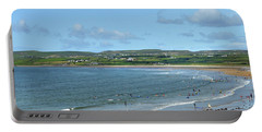 Portable Battery Charger featuring the photograph Lahinch Beach by Terence Davis