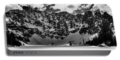 Lake 22 Winter Black And White Portable Battery Charger