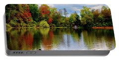 Lake At Forest Park Portable Battery Charger