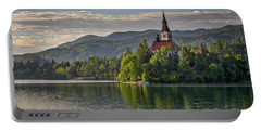 Portable Battery Charger featuring the photograph Lake Bled Morning #2 - Slovenia by Stuart Litoff