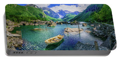 Portable Battery Charger featuring the photograph Lake Bondhusvatnet by Dmytro Korol