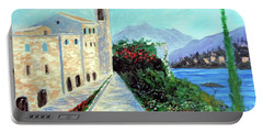 Lake Como Colors  Portable Battery Charger by Larry Cirigliano
