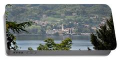 Lake Como View From Villa Carlotta Italy Portable Battery Charger