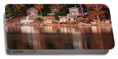 Lake Cottages Reflections Portable Battery Charger