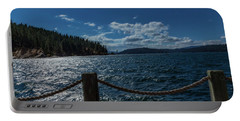 Lake Courd'lane Portable Battery Charger by Nancy Marie Ricketts