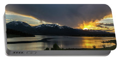 Lake Dillon And Gore Range Sunset Portable Battery Charger