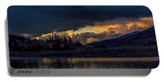 Lake Dillon Stormy Sunset Portable Battery Charger