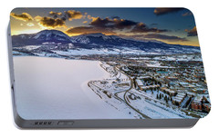Portable Battery Charger featuring the photograph Lake Dillon Sunset by Sebastian Musial