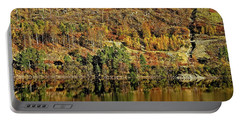 Lake District Autumn Tree Reflections Portable Battery Charger