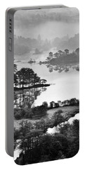 Lake District National Park. Rydal Water Winter Blue.    Black And White Portable Battery Charger