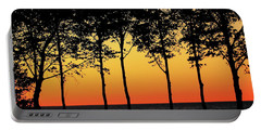 Portable Battery Charger featuring the photograph Lake Erie Silhouettes by Bruce Patrick Smith