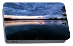 Portable Battery Charger featuring the photograph Lake Evening by Tom Singleton