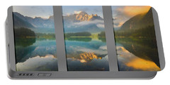 Lake Fusine In Triptych Portable Battery Charger