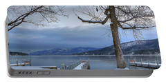 Lake George In The Winter Portable Battery Charger by Sharon Batdorf