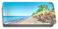 Lake Huron Shoreline Portable Battery Charger by Maciek Froncisz
