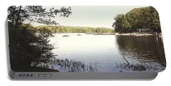 Lake At Burke Va Park Portable Battery Charger
