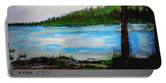 Lake In Virginia The Painting Portable Battery Charger