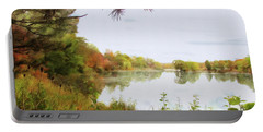 Lake Katherine In October Portable Battery Charger