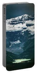Portable Battery Charger featuring the photograph Lake Louise At Distance by William Lee