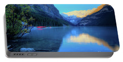 Lake Louise Autumn Bright Sunrise Banff National Park Portable Battery Charger