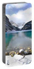 Lake Louise Beauty Portable Battery Charger by Andrea Hazel Ihlefeld