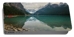 Lake Louise In The Fall Portable Battery Charger