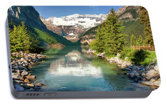 Portable Battery Charger featuring the photograph Lake Louise by Mary Jo Allen