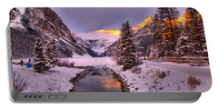 Lake Louise Sunrise Glow Portable Battery Charger