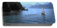 Lake Lucerne Portable Battery Charger by Therese Alcorn
