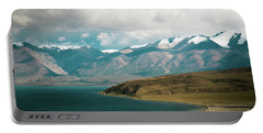 Portable Battery Charger featuring the photograph Lake Manasarovar Kailas Yantra.lv Tibet by Raimond Klavins