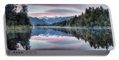 Lake Matheson Panorama Portable Battery Charger
