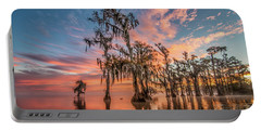 Lake Maurepas On Fire Portable Battery Charger