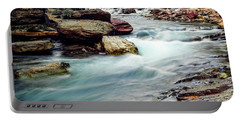 Lake Mcdonald Falls, Glacier National Park, Montana Portable Battery Charger