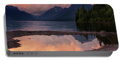 Lake Mcdonald Sunset Portable Battery Charger