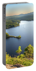 Portable Battery Charger featuring the photograph Lake Megunticook, Camden, Maine  -43960-43962 by John Bald