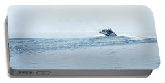 Portable Battery Charger featuring the photograph Lake Michigan Boating by Lars Lentz