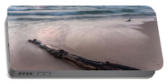 Portable Battery Charger featuring the photograph Lake Michigan Driftwood by Adam Romanowicz