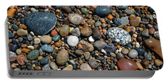 Portable Battery Charger featuring the photograph Lake Michigan Stone Collection by Michelle Calkins