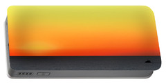Portable Battery Charger featuring the photograph Lake Michigan Sunrise by Zawhaus Photography