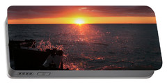 Portable Battery Charger featuring the photograph Lake Michigan Sunset by Bruce Patrick Smith