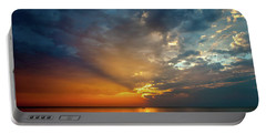 Lake Michigan Sunset Portable Battery Charger