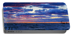Lake Michigan Windy Sunrise Portable Battery Charger