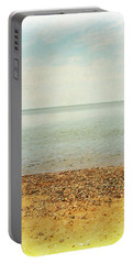 Portable Battery Charger featuring the photograph Lake Michigan With Stony Shore by Michelle Calkins