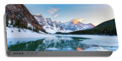 Lake Moraine Sunset Portable Battery Charger
