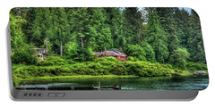 Lake Quinault 3 Portable Battery Charger by Richard J Cassato
