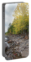 Portable Battery Charger featuring the photograph Lake Shore by Fran Riley
