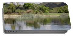 Lake Skinner In Spring Portable Battery Charger by Suzanne Oesterling