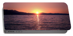 Lake Sunset 8pm Portable Battery Charger